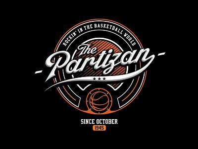 Partizan BC typography serbia belgrade ball hoop sport partisan tshirt print partizan basketball