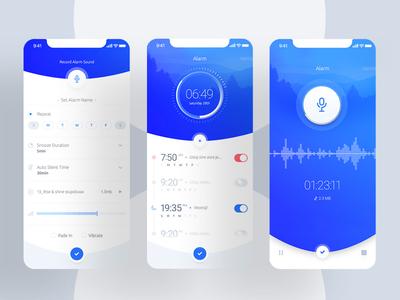 Alarm App clock concept x iphone android ios alarm mobile app