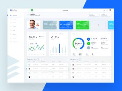 Banking Dashboard theme light online banking bank cms ui web dashboard