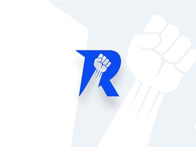 Revenge logo r fist logotype music revenge revolution typography letter logo