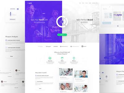 Musync V2 sync design band music website ui web
