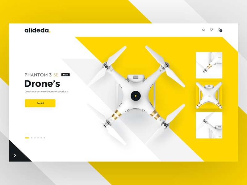 E-commerce Hero Image V2 drone web ui shop page landing home ecommerce