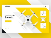E-commerce Hero Image V2 drone web ui shop page landing home ecommerce