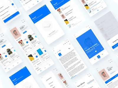 Book App read mobile ux audio book reading app book illustration ui