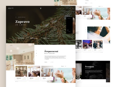 IV wedding site page theme ui wedding branding home typography ux website landing homepage ui art design web