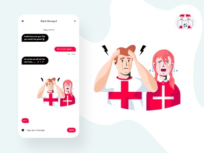 Football Stickers Illustrations fans crying vector england world cup stickers soccer footbal illustration design