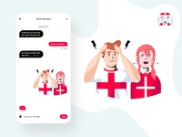 Football Stickers Illustrations