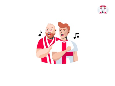 Football Stickers Illustrations design football fans fans singing chanting england hymn soccer footbaal stickers sticker vector illustration