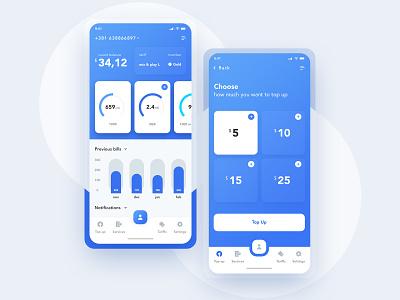 Mobile network operator mobile dashboard dashboard mobile app topup operator network app  design mobile app ux design ui