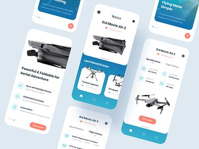 Navia Drone Mobile App Exploration design branding 3d uiux drone mobile uidesign ui