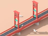Ampera Bridge Isometric