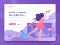 Boostr Landing Page Animation