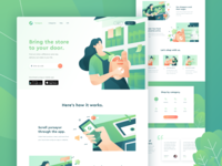 Yursayur - Food and Grocery Delivery Landing Page