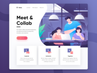 Teras, Coworking Space & Cafe Landing Page Exploration