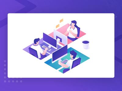 Mailea Email Collaboration Tool Illustration Animation