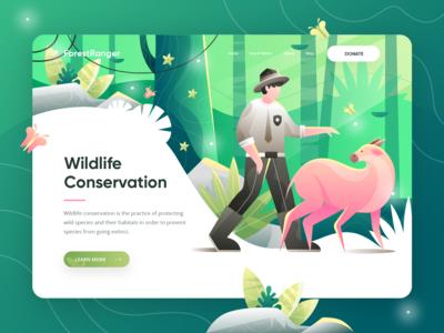 ForestRanger - Animal Conservation Landing Page