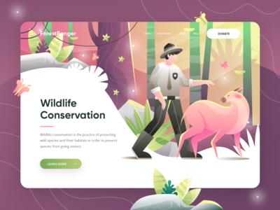 ForestRanger V2 - Animal Conservation Landing Page
