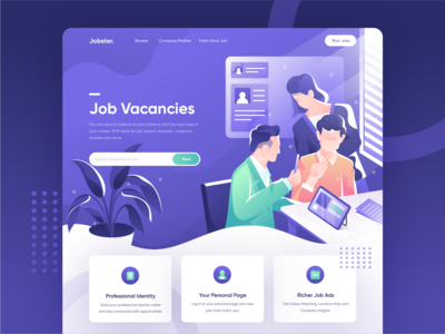 Jobster - Search Millions of Jobs Online Website Concept