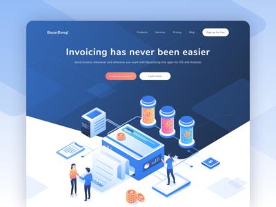 BayarDong - Create Professional Invoice Online Header Website
