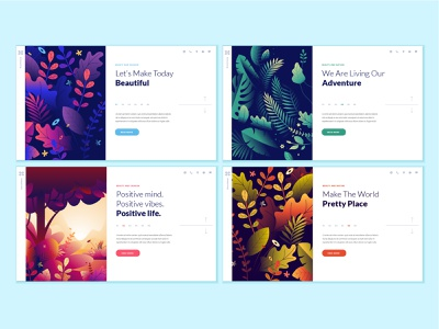 Set of web page design templates for beauty and nature cosmetics flower health care nature spa beauty social media layout banner logo flat template interface icon abstract illustration vector landing website web