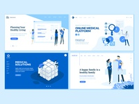 Set of Medical Web Page Design Templates