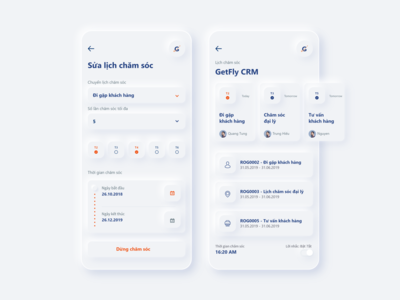GetFly CRM soft UI shapes