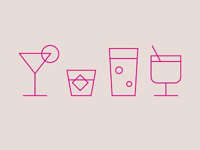 Happy Hour Icon Design illustrator adobe illustrator illustration vector art vector happy hour drinks