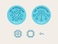 Intersection Blog Badge- Icon Design