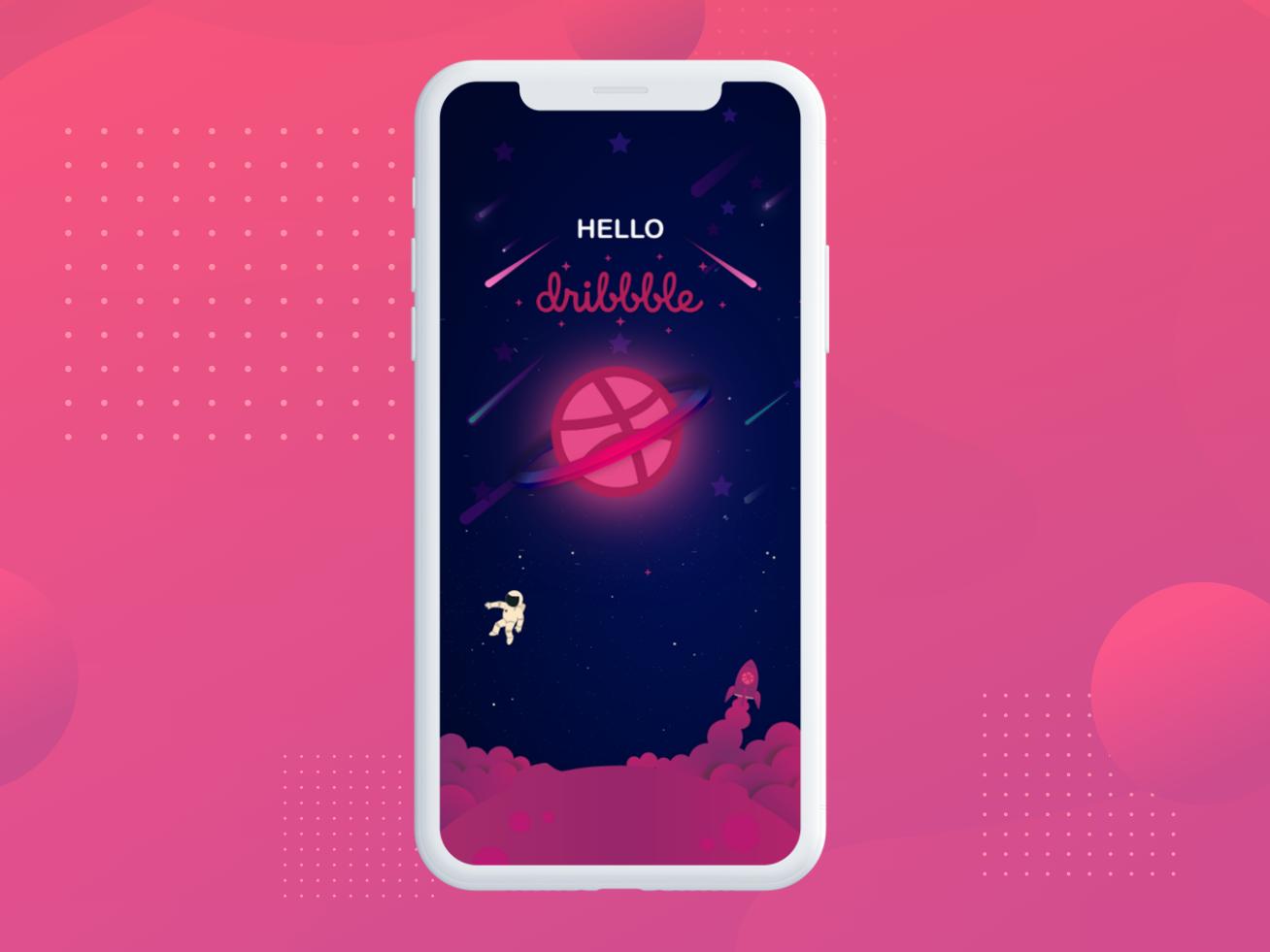 Dribbble dribbble hello dribbble ui deisgn app design