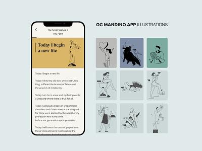 chapters book 04 sketch app ui cartoon vector line art illustration adobe illustrator flat character