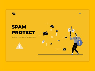 Spam protect page illustration ux vector design cartoon ui illustration line art adobe illustrator flat character
