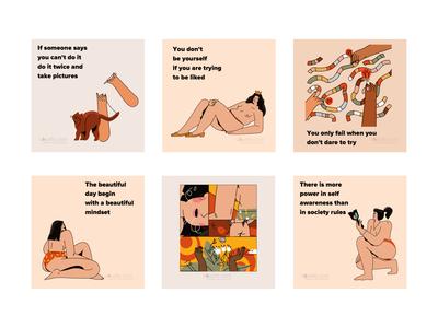Care illustrations periods feminism design ui vector line art illustration flat adobe illustrator character