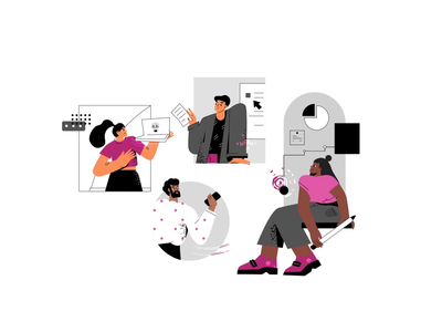 Teamwork team office infographic challenge together connect concept business partnership teamwork illustration character
