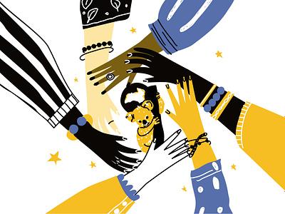 Pray Australia handset australia pray design line art illustration adobe illustrator flat