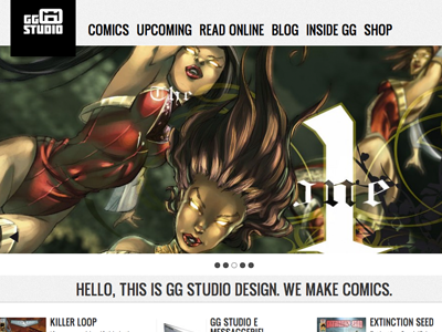 GG studio website web site comics ui