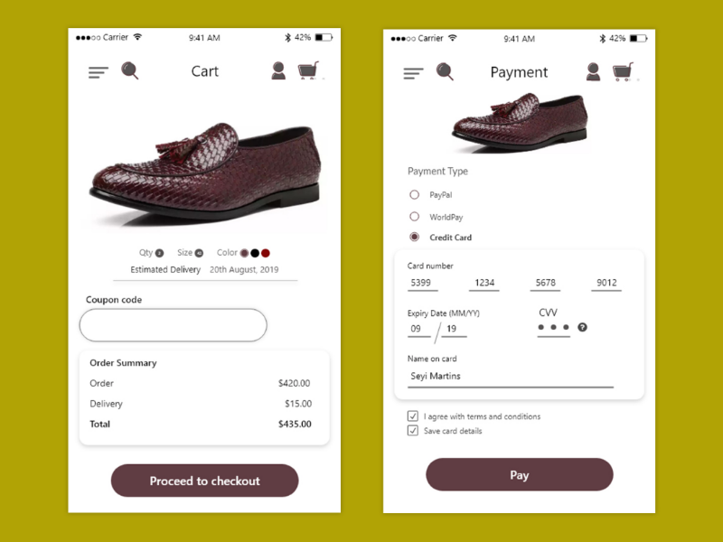 Credit card check out page credit card checkout ui design mobile app dailyui