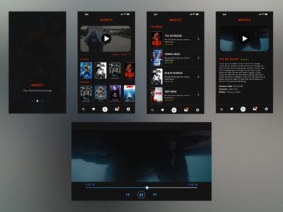 Mobile movie app ui design
