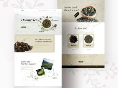Website design for a tea corporation