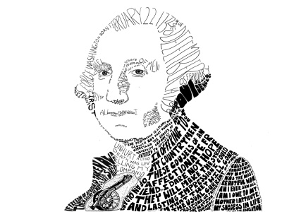 George Washington Typographic Portrait graphicdesign illustration portraiture portrait typography