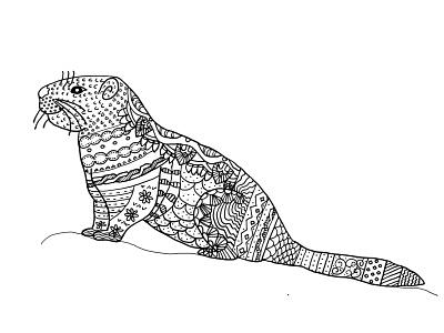 Folk Art Marmot graphic design illustration folkart