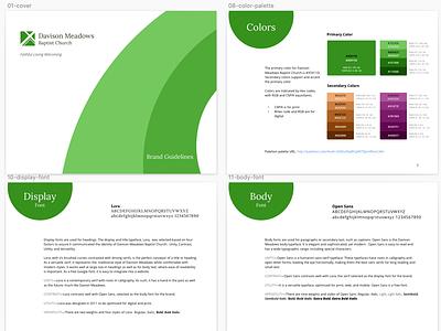 Brand Book color palette brand design branding