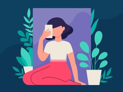 Plants are friends ⚘ illustrator flat character design flat illustration design character illustration vector