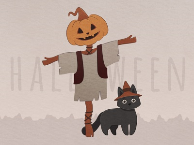 Halloween witch cute childrens book fairytale halloween publication pumpkin illustrator flat flat illustration design character illustration vector