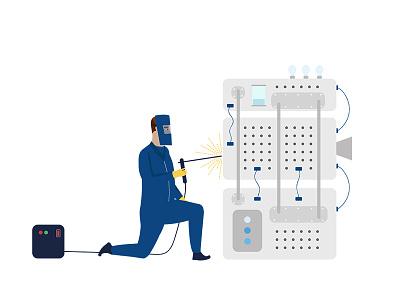 The scientist art direction branding animation illustration