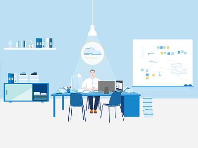 The bureau branding illustration art direction animation