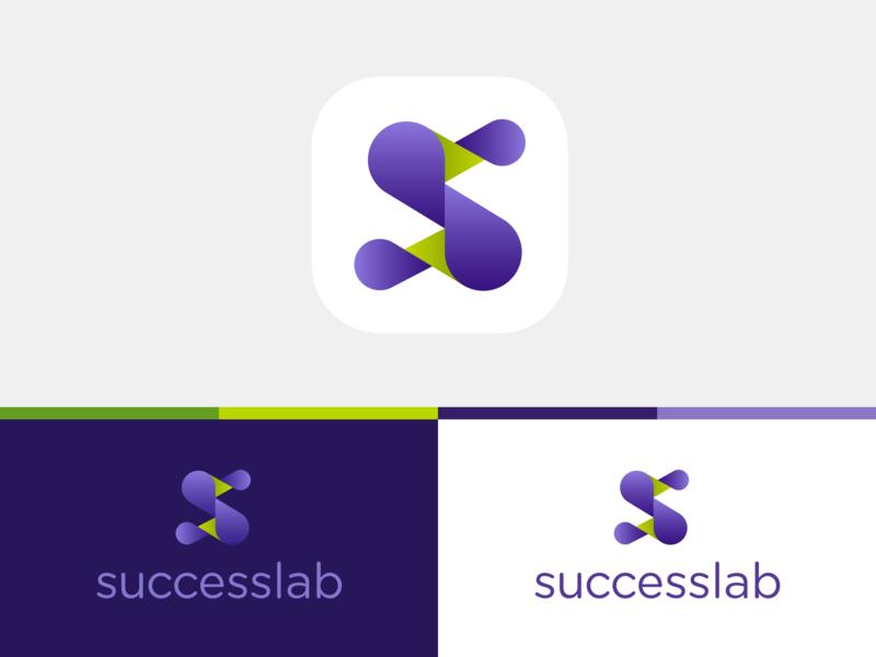 Succeslab logo icon design icon brand mark typography lettering logotype logo design logo brand experience branding design brand design branding brand identity brand