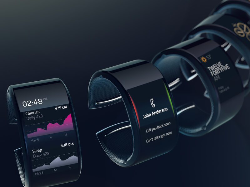 Neptune User Interface brand experience bracelet ux design uiux smartwatch interface ux ui uiuxdesign neptune