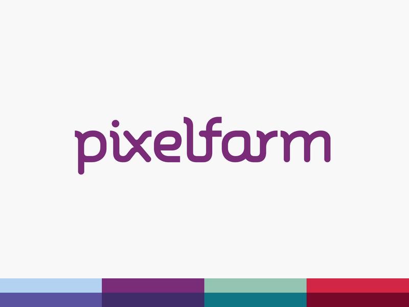 Pixelfarm Logo brand designer typography lettering logotype logo design logo branding design brand experience brand design branding brand identity brand
