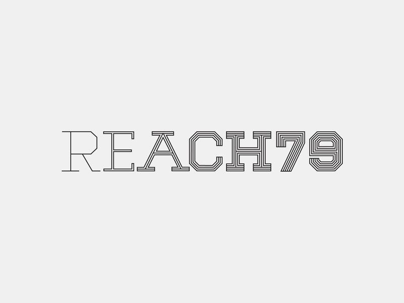 Reach79 Logo brand identity brand designer lettering logotype logo logo design branding design brand design branding brand