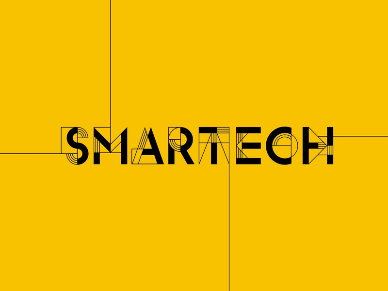 Smartech Logo typography lettering logotype logo logo design branding design brand experience brand design branding brand identity brand